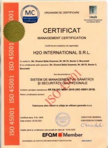 h2o international 45001