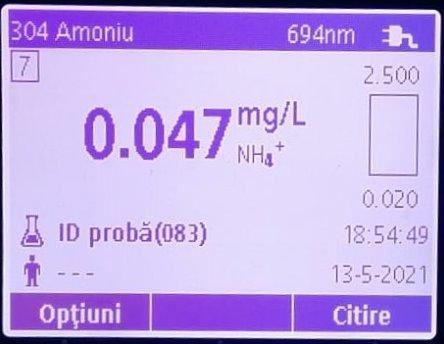 nh4 osica rezultate spectrofotometru